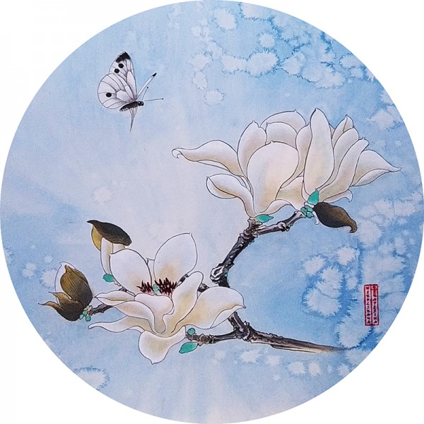 МАГНОЛИЯ И БАБОЧКА. MAGNOLIA AND BUTTERFLY